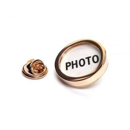 Ashton en Finch Rose goud fotolijst reversspeld badge