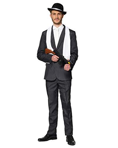 Horror-Shop Nadelstreifen Anzug - Suitmeister für Fasching & 20er Jahre Motto Party XXL