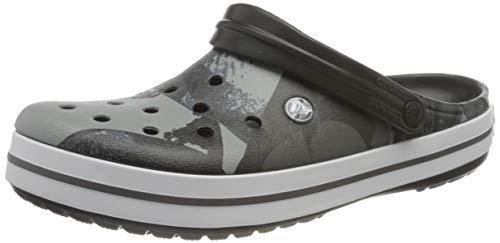 Crocs Unisex-Erwachsene Crocband Ombreblock Clogs, Schwarz (Black/White), 38-39