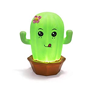 Cute Night Lights for Kids Soft Cactus Lights for Toddler Baby Rechargeable Touch LED Lamps for Nursery Breastfeeding Perfect Girls Boys Gifts Cool Children Bedrooms Decor Newborn Essentials