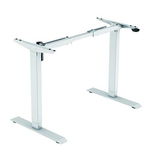 Jet-line Homeoffice höhenverstellbarer Schreibtisch Basic Weiß Elektrisch Bürotisch Ergonomisch Motor Stufenlos Höhenverstellbar Tischgestell Büro Tisch