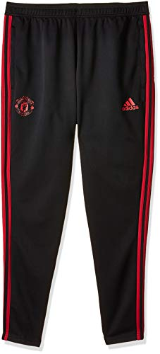 adidas Herren Manchester United FC Training Hose, Black/Blaze Red/Core Pink, L