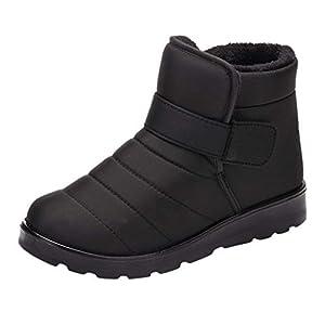 Luckycat Adultos Unisex Durable Piel Sintética Invierno Calentar Al Aire Libre Flat para Caminar Zapatos Zapatillas de Estar por casa Adulto Invierno Andar Calienta Pantuflas Slippers Termicas Zapatos