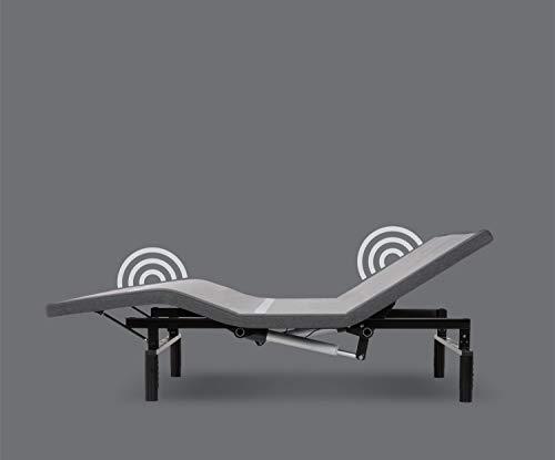 Leggett & Platt Adjustables Simplicity 3.0 Adjustable Bed Base, Split King, Wireless, Full Body Massage, Zero Gravity, Night Light