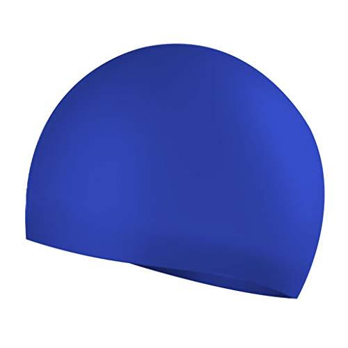 Badekappe Unisex Badkappen Silikon elastische Nahtlose einfarbige Männer Qualität Schwimmen Hut für Schwimmbad Strand Surfen(A,Free)