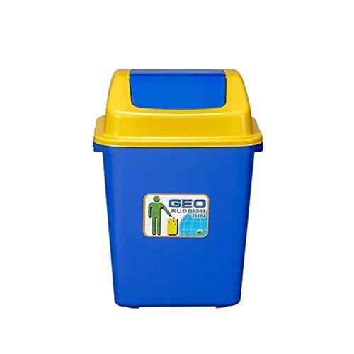Papeleras La basura al aire libre puede, con la tapa de plástico durable de espesado de residuos cesta, for uso doméstico Cocina Sala de estar Tienda Garaje Jardín alta capacidad Cubo de basura, cuatr