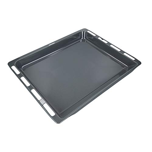 LUTH Premium Profi Parts Backblech Fettpfanne emailliert 46,5x37,5 cm für Bosch Siemens 00447553 00742586