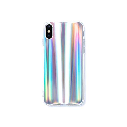 on sale f214c 8d27d HolaStar Phone Case for iPhone Xs Max/10s Max Case, Rainbow Holographic  Pattern Gradient Iridescent Effect Anti Scratch Slim Thin Fit (Holographic  ...