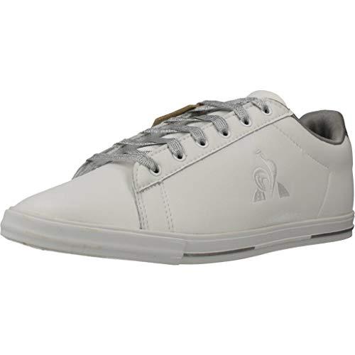 LE COQ SPORTIF Agate Metallic Optical White/Old Silver, Zapatillas Mujer, Blanco Óptico/Plata Vieja, 40 EU