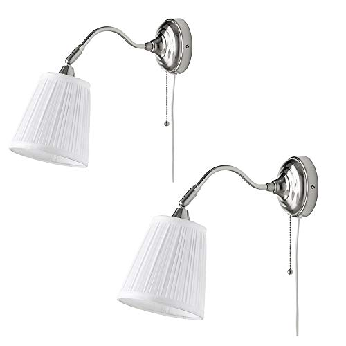 Hedendaagse wandlampen 2 sets Moderne LED tafellamp industriële stijl woonkamer restaurant hotel gang stof licht oog bed eenvoudige creatieve wandlamp (wit)