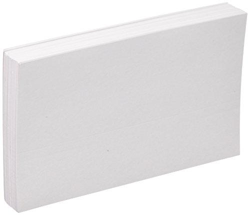 "Oxford Blank Index Cards, 5"" x 8"", White, 100/Pack"
