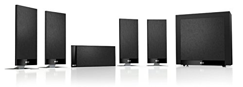 KEF T105 System Lautsprecherset 5.1 Kanäle 650 W Schwarz - Lautsprechersets (5.1 Kanäle, 650 W, Heimkino, Schwarz, 90 dB, 2-Wege)