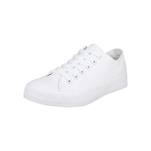 Elara Unisex Sneaker Low top Turnschuh Textil Chunkyrayan 3500-3501 Allwhite-39