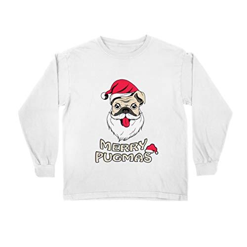 lepni.me Kids T-Shirt Vrolijke Pugmas, Grappige Kerstmis Hond Liefhebbers Gift, Gelukkig Knuffel Leven