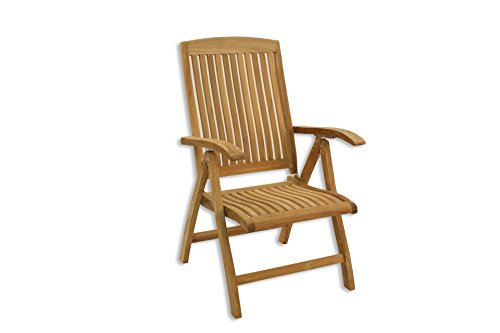 Unbekannt Klappsessel TEAK KINGSBURY verstellbar Garten Stuhl Sessel