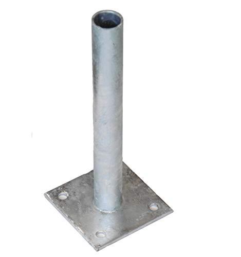 EXCOLO Pfostenträger Halter Adapter Schraubplatte für Ø 34 mm Rundpfosten Maschendraht Zaun-pfosten