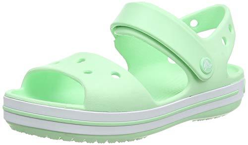 Crocs Jungen Unisex Kinder Crocband Kids' Sandal, Neo Mint, 27/28 EU
