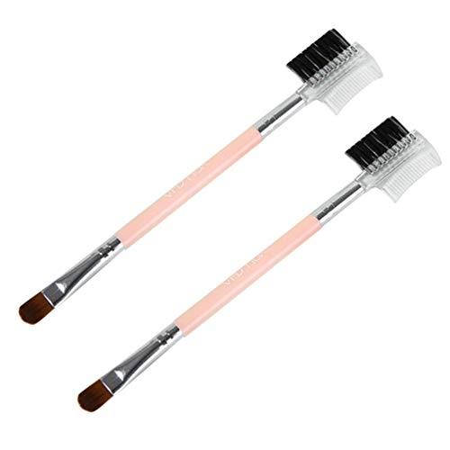FRCOLOR 2 Pcs Pinceau de Maquillage Ensemble Double Tête Cosmétique Brosse Ombrage Brosses Outil de Beauté Cosmétique pour La Maison de Voyage Dame Utiliser