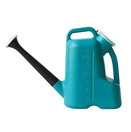 WUHUAROU Regadera de plástico de 5 litros, para jardín, con boquillas largas