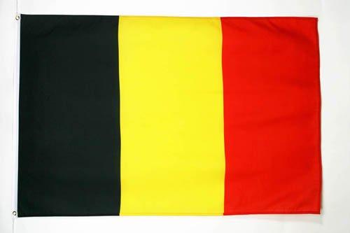 AZ FLAG Flagge Belgien 150x90cm - BELGISCHE Fahne 90 x 150 cm feiner Polyester - flaggen