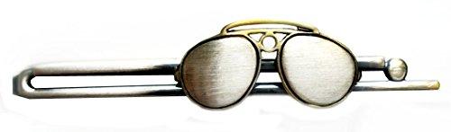 Unbekannt Brille Krawattennadel Krawattenklammer Sonnenbrille antikfarben Patinastil m.i. Germany + Box braun