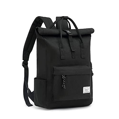 Mochila para ordenador portátil, mochila para hombre y mujer con apertura amplia, mochila enrollable impermeable, mochila para escuela, ciclismo, ocio y viajes