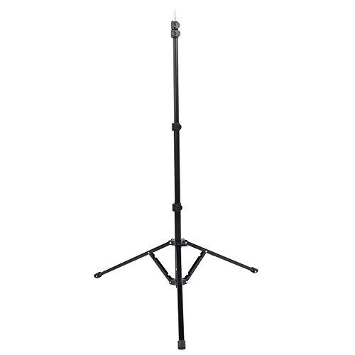 Omgekeerd opvouwbaar statief, aluminiumlegering Lampenrek Antislip rubberen voetpad 5-delige verstelbare fotografische standaard Stevig statief voor zachte lichtbak, lamp, paraplu, enz.