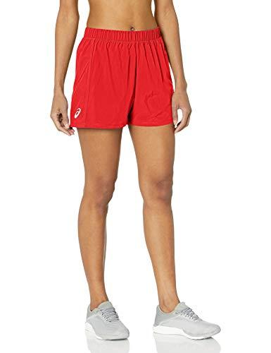 ASICS Pantalón corto tejido para mujer de 3 pulgadas - 2162A081, Pantalón corto de 7,6 cm., XS, Rojo(Team Red)