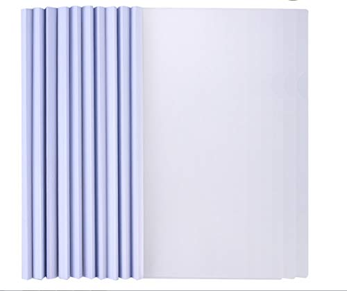 YeahiBaby - Carpeta transparente para archivador (A4, relación de pantalla, encuadernación, barra corredera, relación cubrida, 10 unidades)