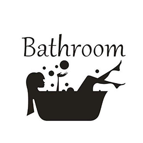 Ogquaton Pegatinas de pared extraíbles para baño, decoración de habitación y decoración práctica y popular