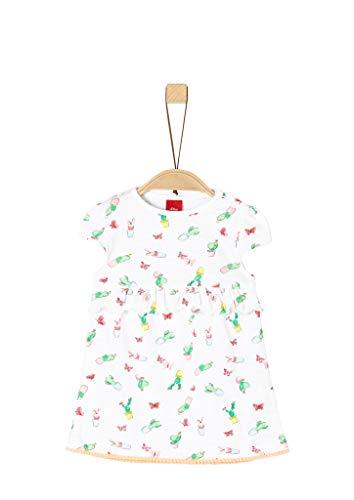 s.Oliver Baby-Mädchen 65.904.82.2875 Kleid, Weiß (White AOP 01a1), (Herstellergröße: 74)