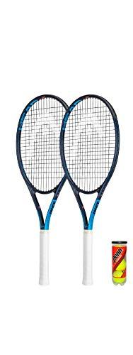 HEAD Ti. Instinct Comp - Raquetas de tenis de grafito (incluye fundas protectoras y 3 pelotas de tenis