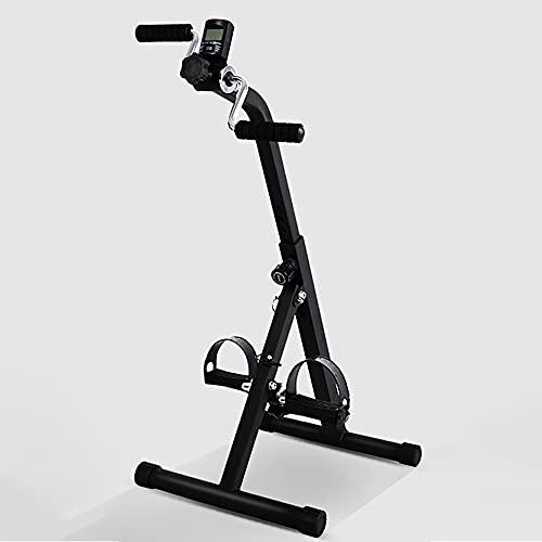 Bicicleta estática, Entrenador de Pies y Manos con pantalla, Bicicleta de Rehabilitacion portátil, ejercitador de bicicletas para hombres mayores, mujeres/Black / 94x41x40cm