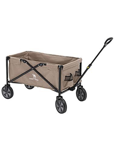 YIA Al aire libre camping vehículo camping transporte plegable multifuncional portátil picnic camping equipo carro equipaje carro marrón