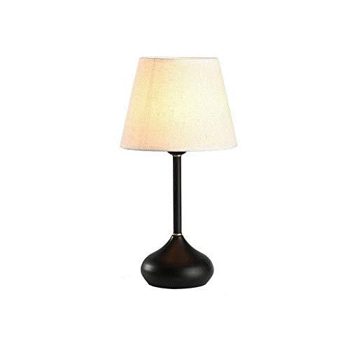 Sala de estar Dormitorio Lámpara de mesa Lámpara de mesita de noche cálida Lámpara de mesa de cerámica moderna y nórdica creativa Lámpara de tela Pantalla Lámpara de mesa de madera Dormitorio Sala de