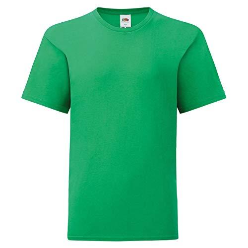 Fruit of the Loom Kids Iconic T-Shirt Größe 104-164, Farbe:maigrün, Größe:116