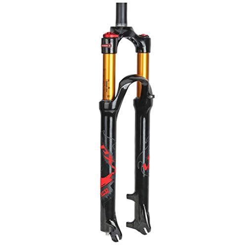 Sentarse ZZQ- Bicicleta Horquilla Delantera Aleación De Magnesio MTB Horquilla De Suspensión...