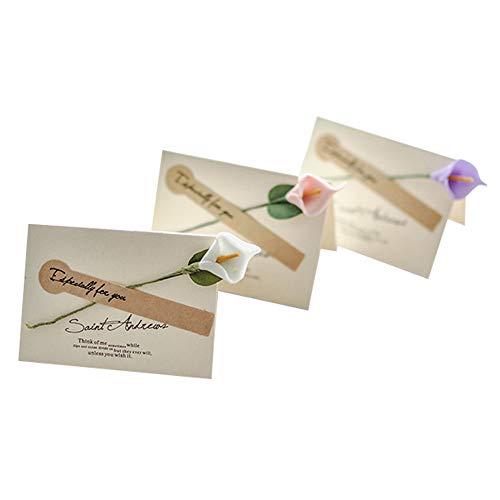 Lumierechat メッセージ カード メッセージカード ミニ プチ 一言メッセージ お礼 フラワー 席札 結婚式 テーブル 多目的 封筒 付き a-b8966(10枚/ミックスアソート)