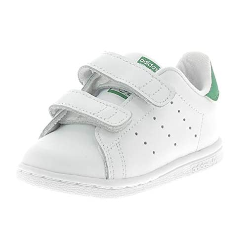 adidas Stan Smith CF I, Pantofole Unisex-Bambini, Bianco (Ftwbla/Verde 000), 22 EU