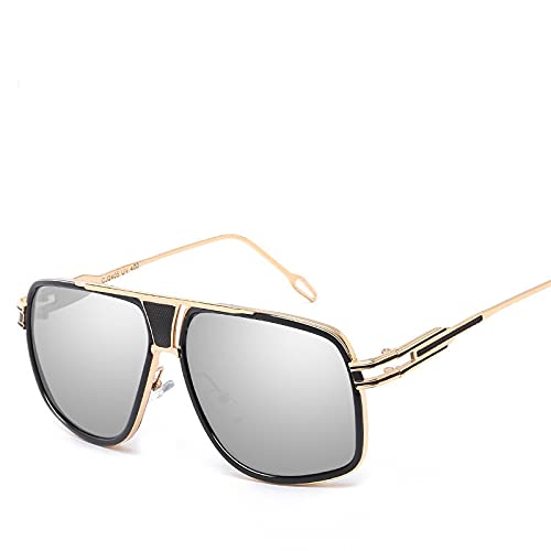 ShZyywrl Gafas De Sol Gafas De Sol Hombres, Gafas De Sol para Conducir, Gafas De Sol Plateadas