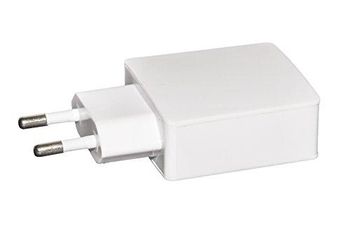 LINK, CARICATORE UNIVERSALE DA RETE CON 2 PRESE USB 5 VOLT 2 AMPERE COLORE BIANCO