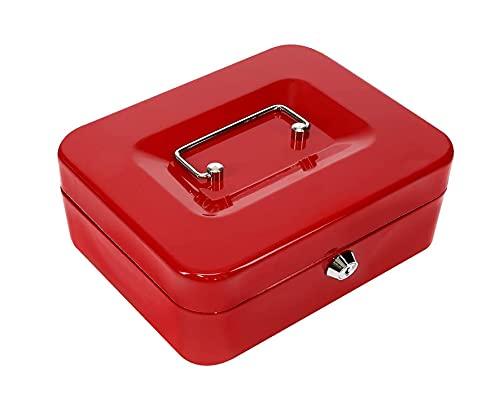 Kippen 10033r2 - Caja de caudales roja, medidas: 200 x 160 x 90 mm