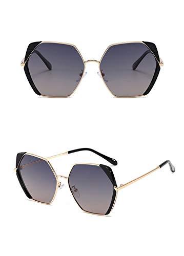 , Nuevas Gafas, Gafas de Sol en Forma de Mariposa de Las Mujeres Delgadas con Estructura Irregular, Apto for Cualquier Cara (Size : Black Frame Tea Gray Tablets)