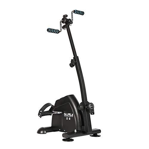 HOUSEHOLD Bicicleta de rehabilitación con Pantalla LCD, Bicicleta de rehabilitación de Arriba y Abajo portátil para Ancianos, Altura Ajustable, Bicicleta de Pedal Fija de Ejercicio de Escritorio