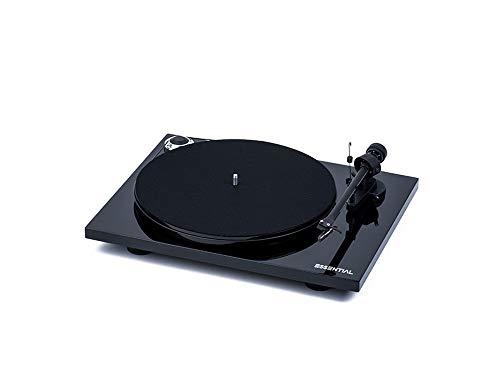 "Pro-Ject Essential III BT, Audiophiler ""Best Buy"" Plattenspieler mit Wireless Audio Streaming (Schwarz)"