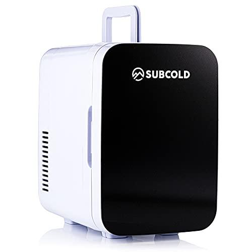 Subcold Ultra 6 Mini Fridge Cooler & Warmer | 3rd Gen | 6L capacity | Compact, Portable and Quiet | AC+USB Power Compatibility (Black)