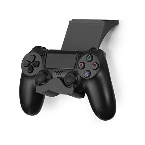 Brainwavz Halterung für PS4 Controller unter dem Schreibtisch, für Dualshock PS4 Gamepad, zum Aufstecken, schraubenlos, Schwarz