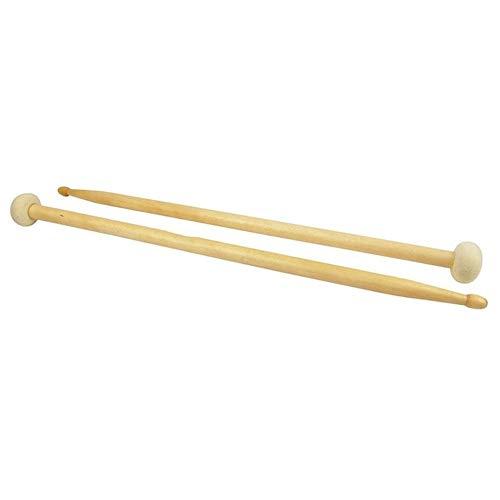 Tone Trommelstock Armee Schlegel Pauke Hammer Trommelstock Filzkopf Timpani Drumstick Doppelkopf Hammer Rod Musikinstrument Zubehör (Color : Yellow)