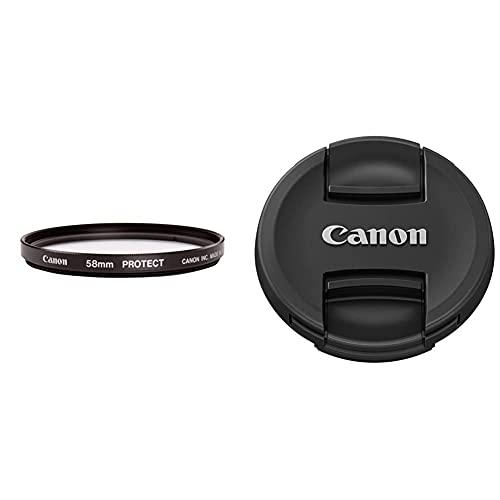 Canon Protect Filtro, 58 mm & E-58Ii Tappo Per Lenti Ef, 58 Mm Di Diametro, Nero