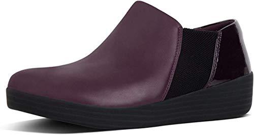 FitFlop Womens Superchelsea Slip On Boots, Deep Plum Mix, US 7